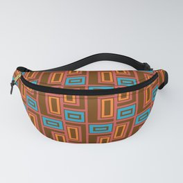 Letter Rectangle Hooks Latches Modern Quilt Fanny Pack
