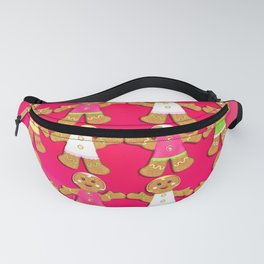 Gingerbread Men and Gingerbread Woman Cookies Fanny Pack