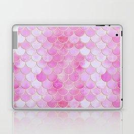 Pink Pearlescent Mermaid Scales Pattern Laptop & iPad Skin