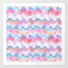 Ikat Chevron 4b Art Print