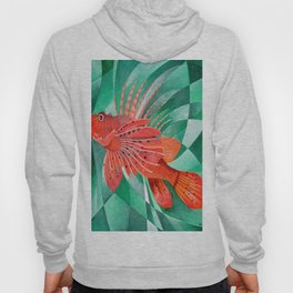 Marine Fire Fish or Lionfish Hoody
