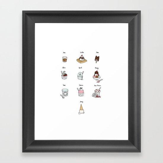 Parks and Rec Ice Cream Framed Art Print