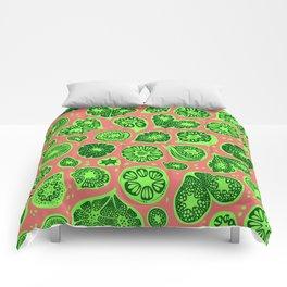 Frutti Green Pink Comforters