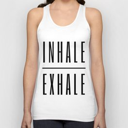 Inhale. Exhale. Unisex Tank Top