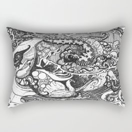 JOURNEY OF THE CATERPILLAR UPON THE OCEANS OF TIME Rectangular Pillow