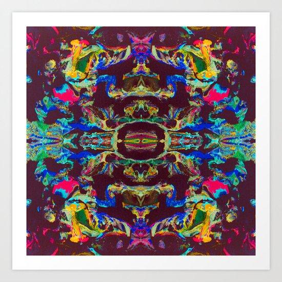 Internal Kaleidoscopic Daze- 17 Art Print