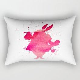 The white rabbit splatter Rectangular Pillow