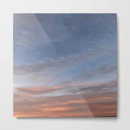 Blue-Pinkish Sky Metal Print