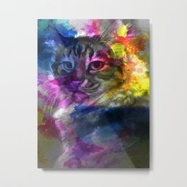 Sign of Cat Metal Print