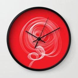 Single White Rose Wall Clock