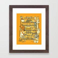 Meow Remix Framed Art Print