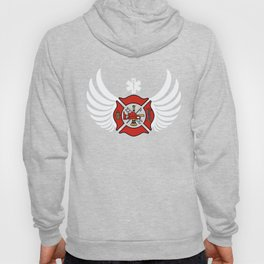 Firefighter EMT EMS Angel Wings Paramedic design Hoody