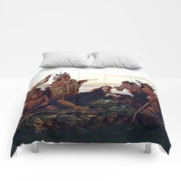 The Abduction of Boone's Daughter by the Indians Comforters