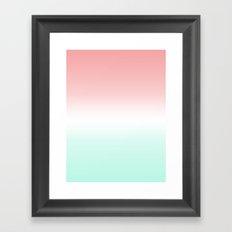 Coral Mint Fade Framed Art Print