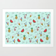 SUMMER IS COMING Art Print