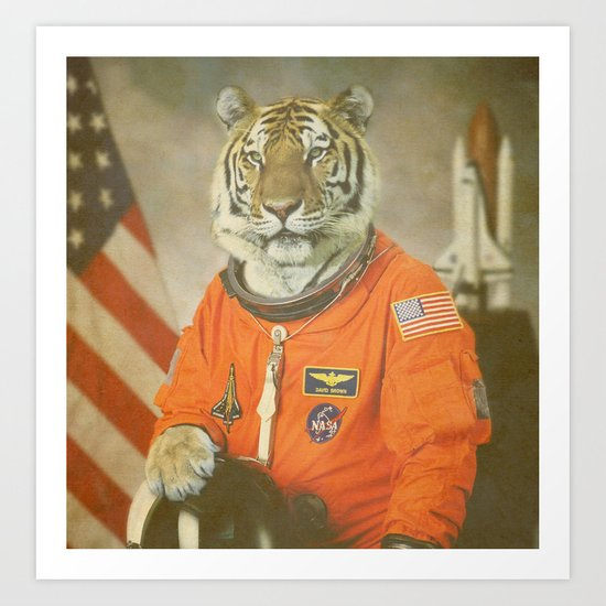 Moon Tiger  Art Print