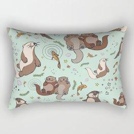 Sea Otters Rectangular Pillow