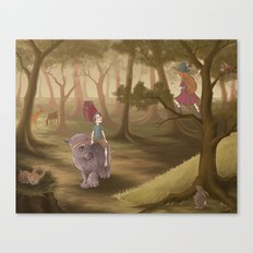 Forest creatures Canvas Print
