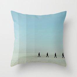 Walking on the beach 4 Throw Pillow