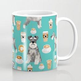 Schnauzer coffee dog breed pet art pure breed cafes pupuccino Coffee Mug