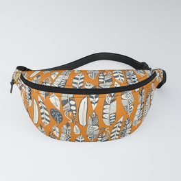 joyful feathers orange Fanny Pack
