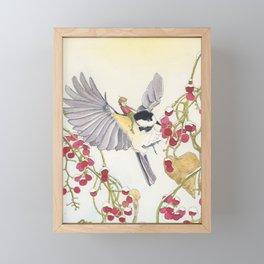 The Elfling and the Chickadee Framed Mini Art Print