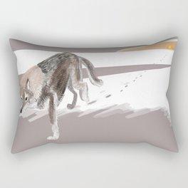 Totem Russian Wolf Rectangular Pillow