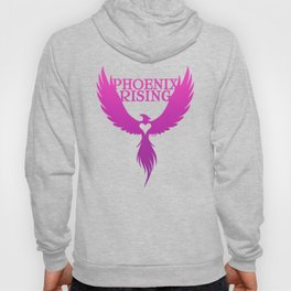 PHOENIX RISING purple with heart center Hoody