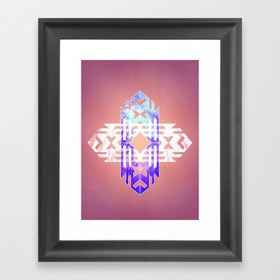 Aztec Track Framed Art Print