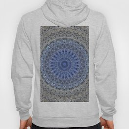 Gray and blue mandala Hoody
