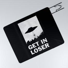 Get In Loser Picnic Blanket
