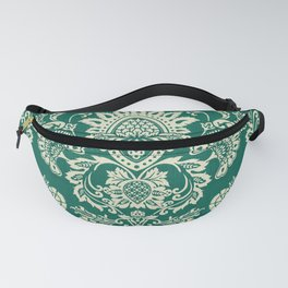 Damask vintage in green Fanny Pack