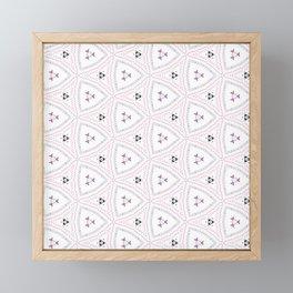 Delicate Pink Pattern Design Framed Mini Art Print