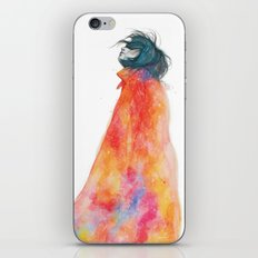 The Girl with the starry mantle iPhone & iPod Skin