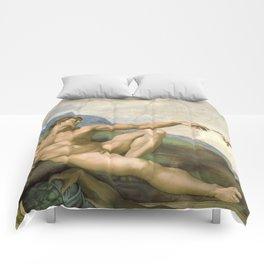 Michelangelo - Creation of Adam Comforters