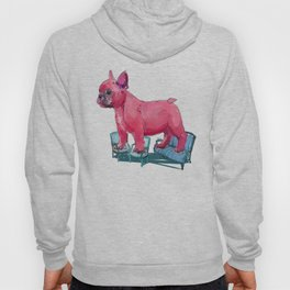 animals in chairs # 23 French Bull Dog Hoody
