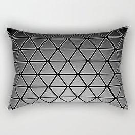 Triangular, Black and White Rectangular Pillow