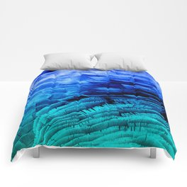 RUFFLED BLUE Comforters