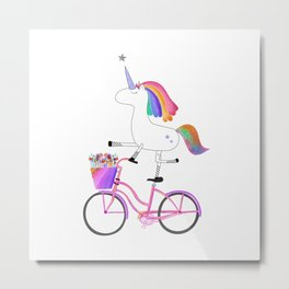 Bicycorn Metal Print