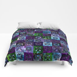Cool Colors Galaxy Quilt Pattern Comforters