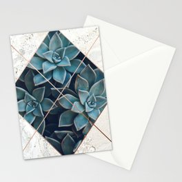 Copper & Marble & Succulent 06 Stationery Cards