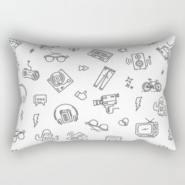 Retro tech pattern Rectangular Pillow
