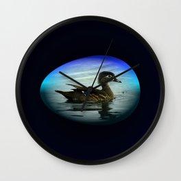 Duck Egg Wall Clock