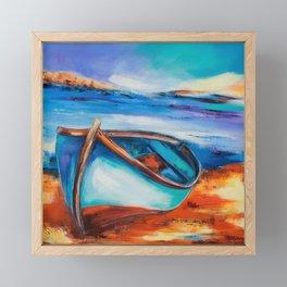 The Blue Boat Framed Mini Art Print