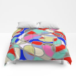 Stain Glass Abstract Meditation Painting 1 Comforters