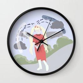 Nature-girl in globe Wall Clock