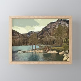 Emerald Bay Lake Tahoe Framed Mini Art Print
