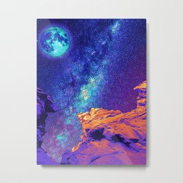 Psychedelic Stone Galaxyscape Metal Print