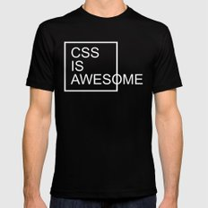 CSS Is Awesome Funny Quote Mens Fitted Tee Black MEDIUM
