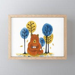 Coffee Bear Framed Mini Art Print